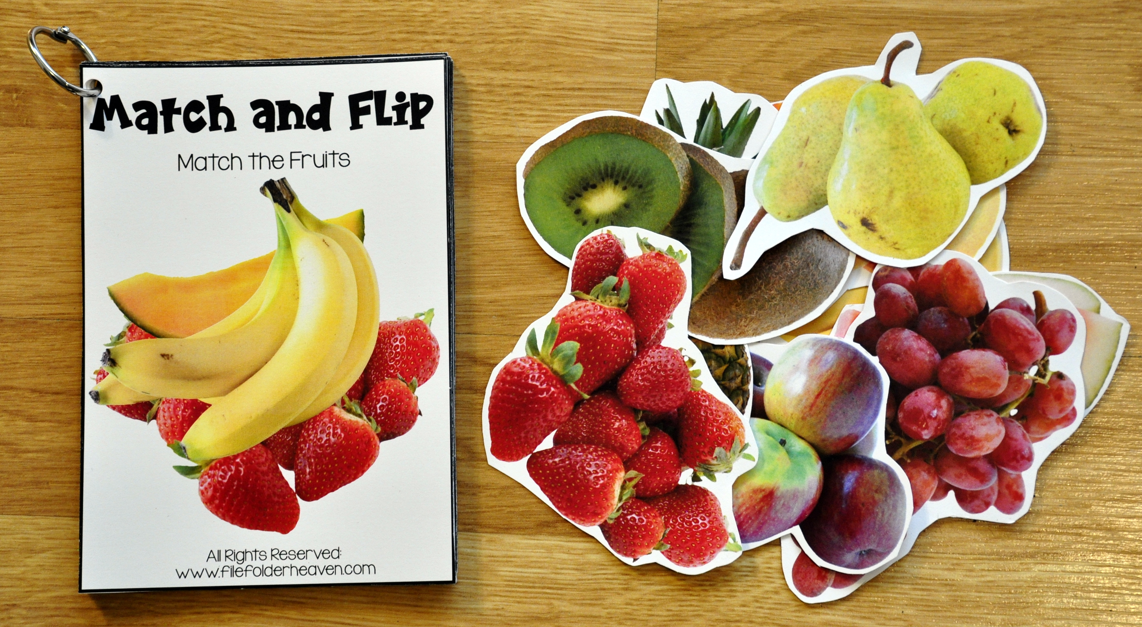 Food Groups Match And Flip Activities With Real Photos