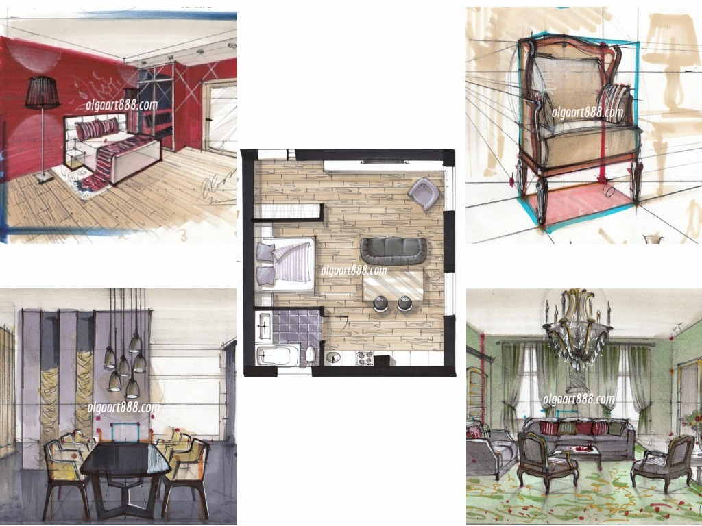 Sketching With Markers For Interior Designers Online School Of