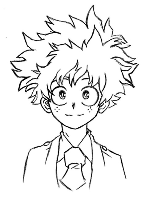 pics How To Draw My Hero Academia Characters Deku how to draw deku face how to images