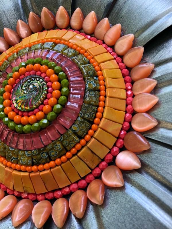 Jeweled Garden Flower Mosaic With Angie Heinrich Arts Online