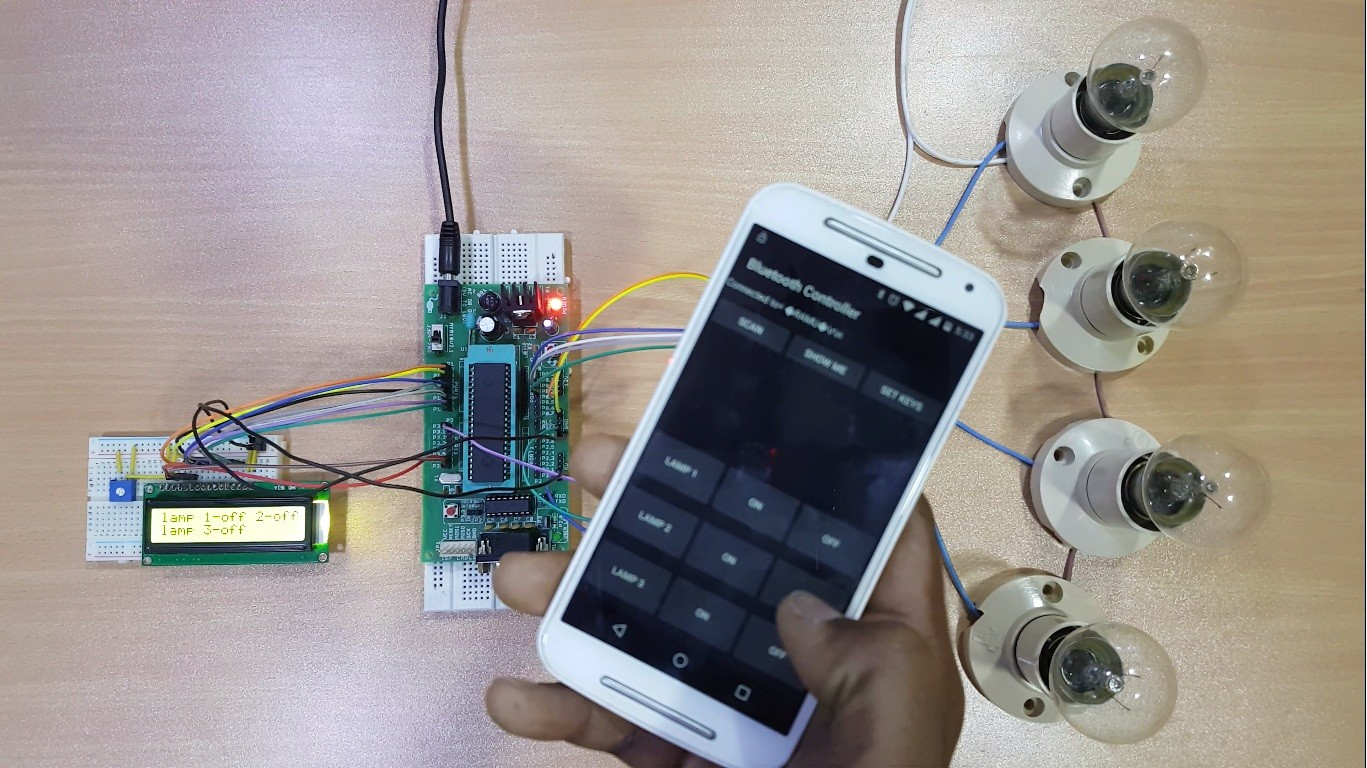 hight resolution of bluetooth controlled electronic home appliances