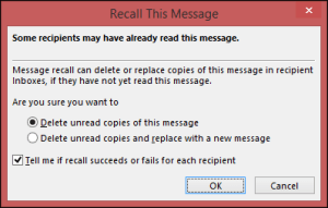 recall message in outlook