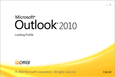 open outlook to merge pst