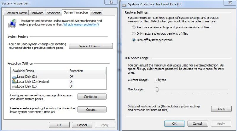 recover system previous version files
