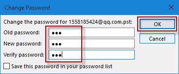 reset pst password