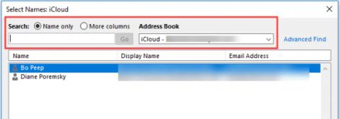 icloud outlook contacts