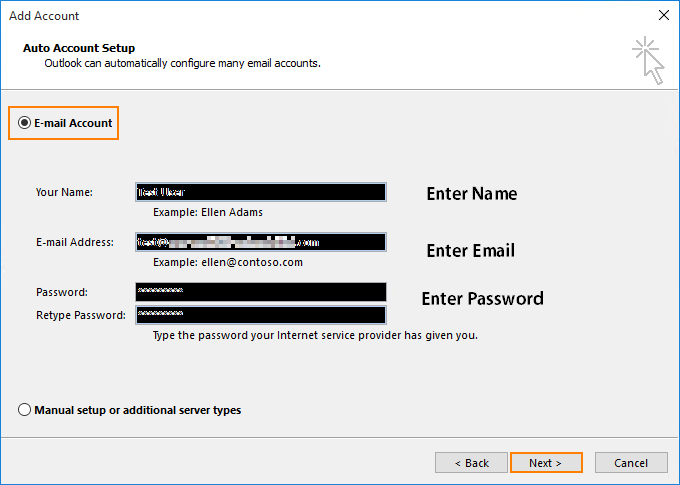 setup outlook account