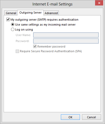 aol smtp settings in outlook