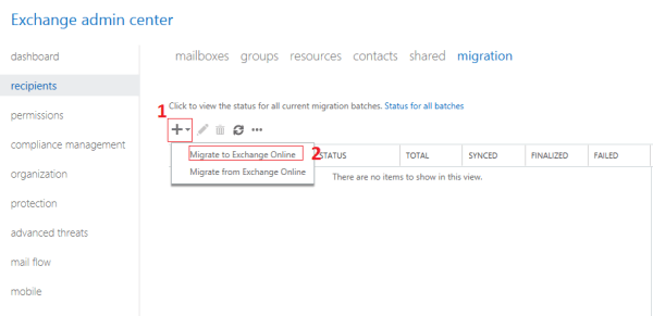 migrate to gmail to office 365