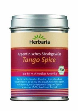 """Herbaria """"Tango Spice"""" Argentinisches Steakgewürz, 1er Pack (1 x 100 g Dose) - Bio - 1"""