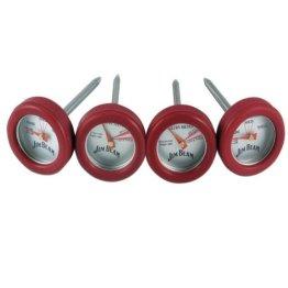 Jim Beam Grillbesteck / Grillzubehör Minithermometer Set, 4 tlg. - 1