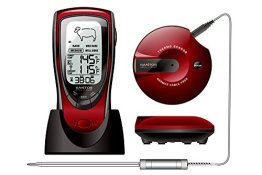 Santos audiodigital BBQ Barbecue Thermometer Funk Grill Thermometer - 1