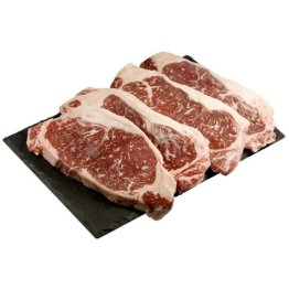 Wagyu Kobe Sirloin Beefsteak - Tiefgekühlt - Marmorierungsgrad 8-9 - 4 x 250 g - 1