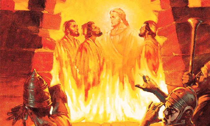 Com Deus na fornalha de fogo ardente
