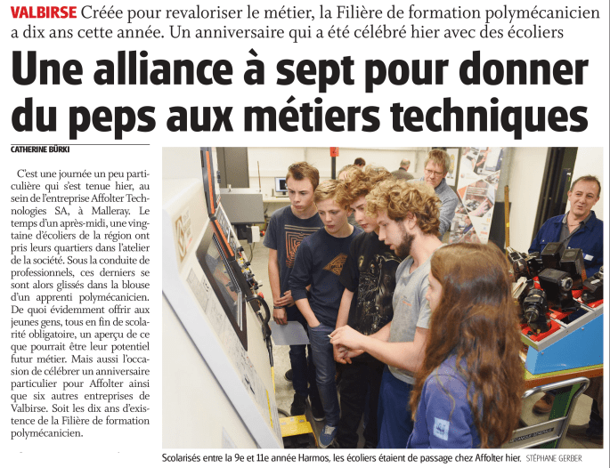Article de presse Journal du Jura