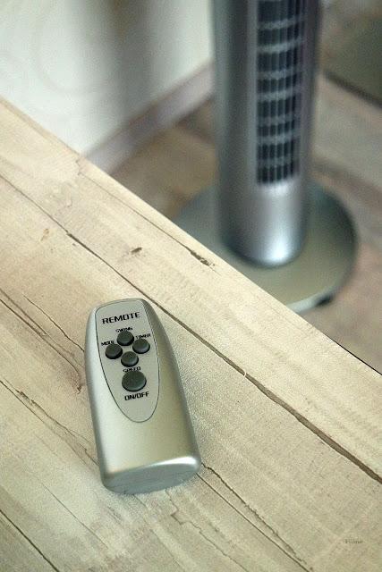 Turmventilator bringt Luft ins aufgeheizte Zimmer mit Tower Blizzard RC