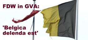 Gescheurde Belgische vlag