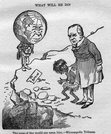 1898-us-political-cartoon-us-president-william-mckinley-is-shown-holding-the-philippines-depicted-as-a-savage-child-as-the-world-looks-on