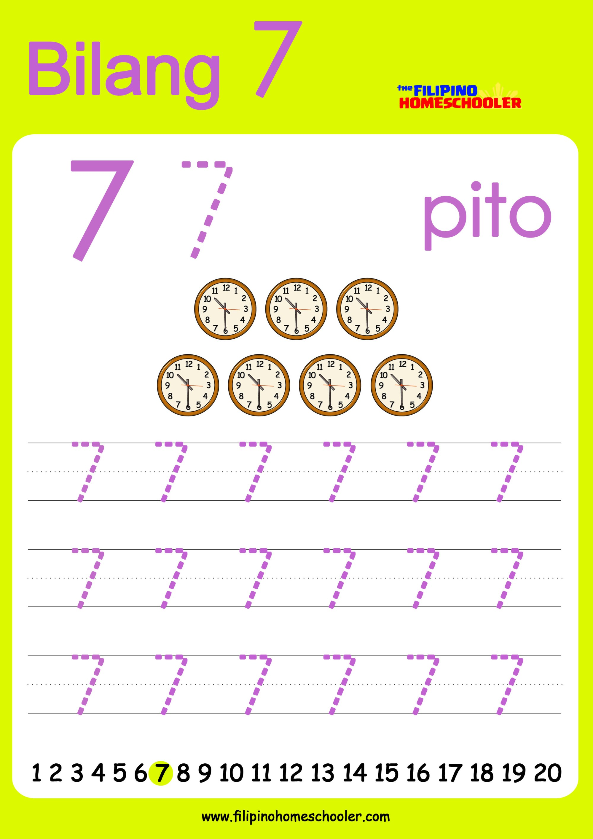 hight resolution of FREE Filipino Numbers Worksheets from 1-10 — The Filipino Homeschooler