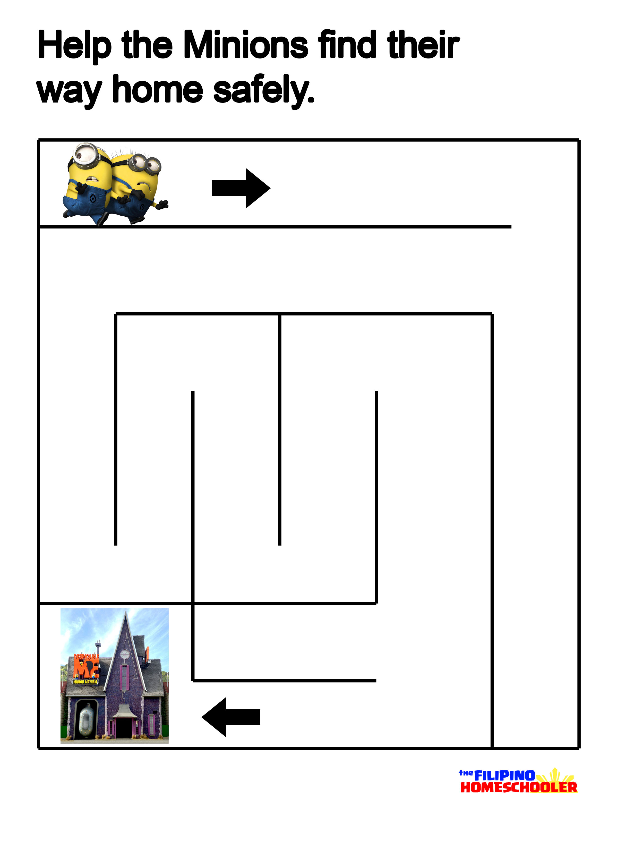Free The Minions Mazes Printables The Filipino