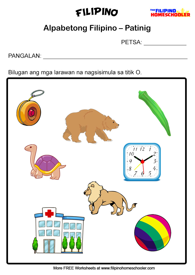 hight resolution of 5 Free Patinig Worksheets (Set 1) — The Filipino Homeschooler