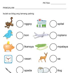 Free Patinig Worksheets (Set 2) — The Filipino Homeschooler [ 1169 x 827 Pixel ]