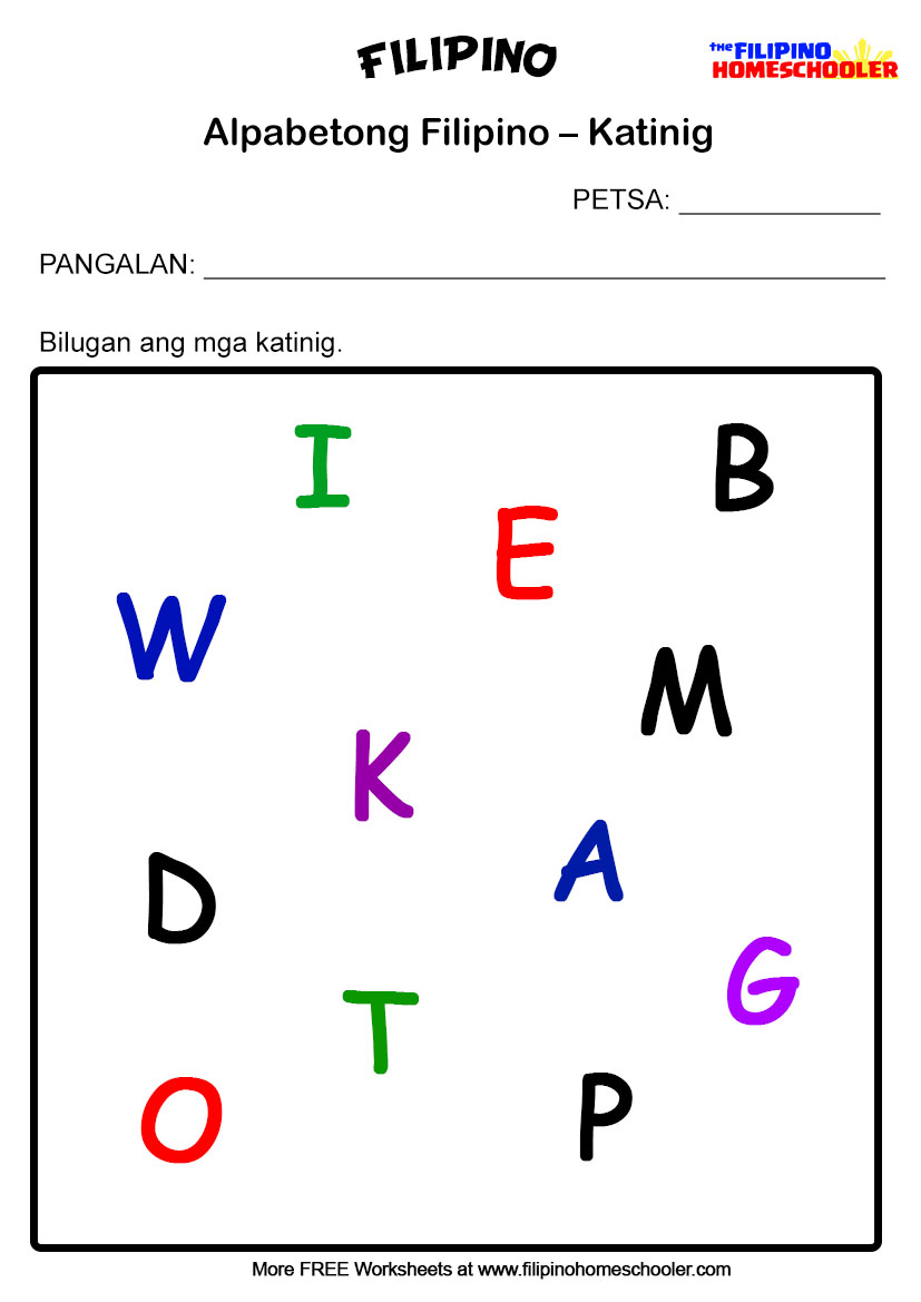 hight resolution of 3 Free Katinig Worksheets (Set 1) — The Filipino Homeschooler