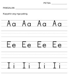 Pagsulat ng mga Patinig Worksheets — The Filipino Homeschooler [ 1169 x 827 Pixel ]