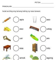 Free Katinig Worksheets (Set 2) — The Filipino Homeschooler [ 1169 x 827 Pixel ]