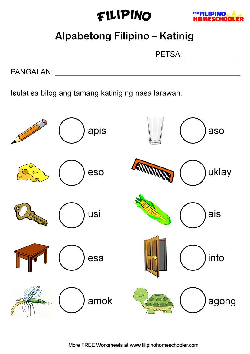 hight resolution of Free Katinig Worksheets (Set 2) — The Filipino Homeschooler