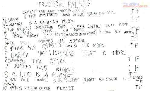 small resolution of Gab's Grade 1 Astronomy Worksheet — The Filipino Homeschooler