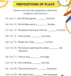 French Prepositions Of Location Worksheet   Printable Worksheets and  Activities for Teachers [ 2000 x 1414 Pixel ]