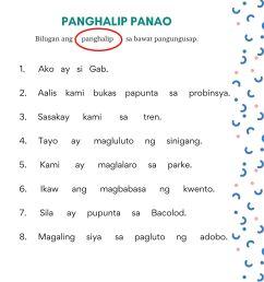 Free Panghalip Panao Worksheet SET 1 — The Filipino Homeschooler [ 2000 x 1414 Pixel ]
