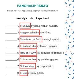 Free Panghalip Panao Worksheet SET 2 — The Filipino Homeschooler [ 2000 x 1414 Pixel ]