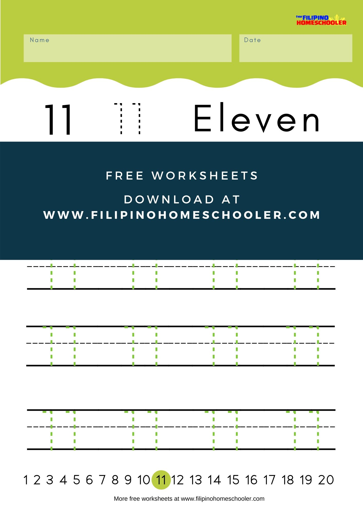 Numbers 11 20 Writing Worksheets