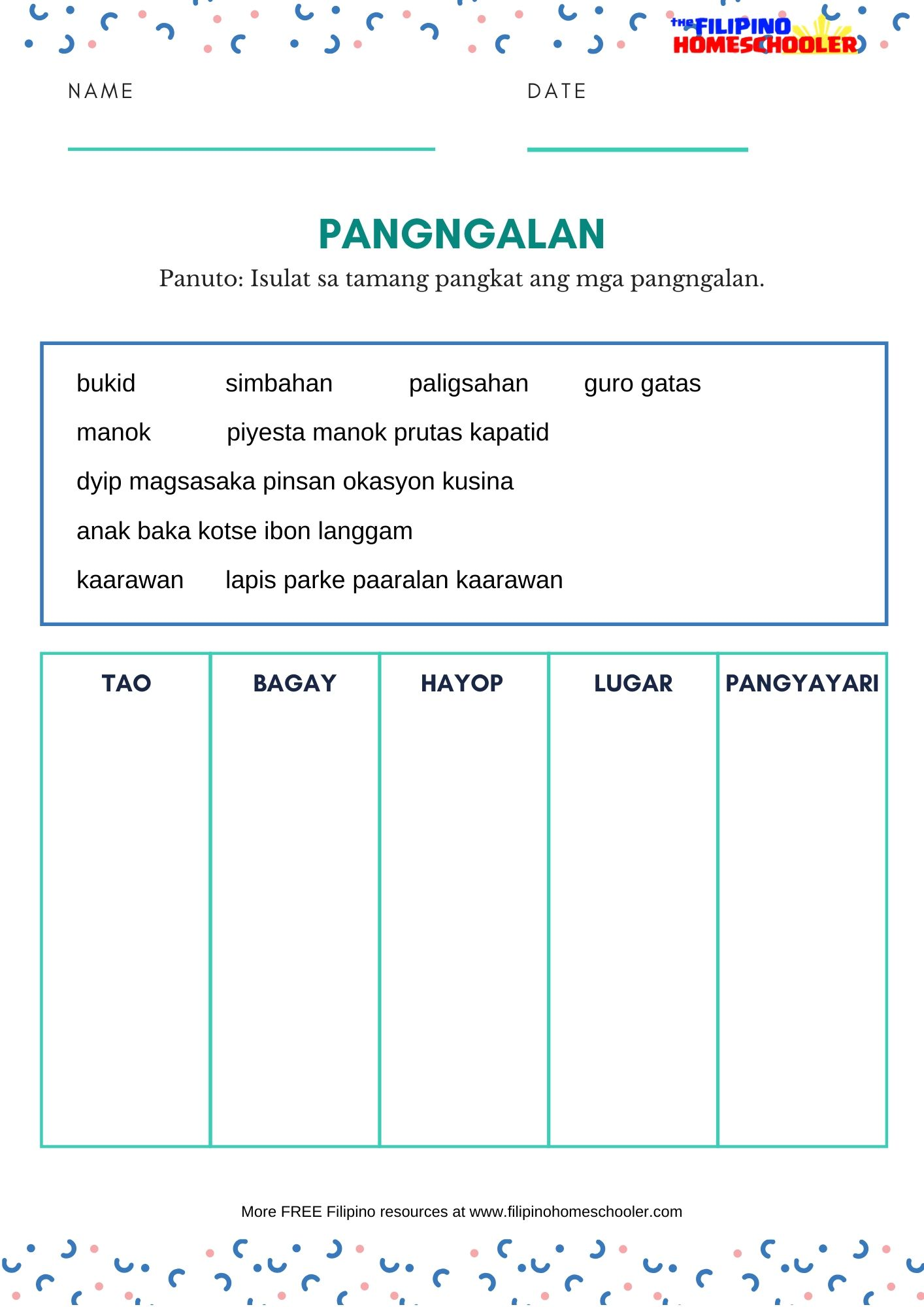 hight resolution of Mga Bantas Worksheet Grade 2   Printable Worksheets and Activities for  Teachers
