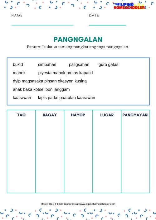 small resolution of Mga Bantas Worksheet Grade 2   Printable Worksheets and Activities for  Teachers