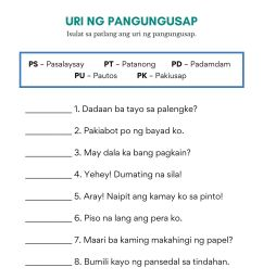 Uri Ng Tayutay Worksheet Grade 6   Printable Worksheets and Activities for  Teachers [ 2000 x 1414 Pixel ]