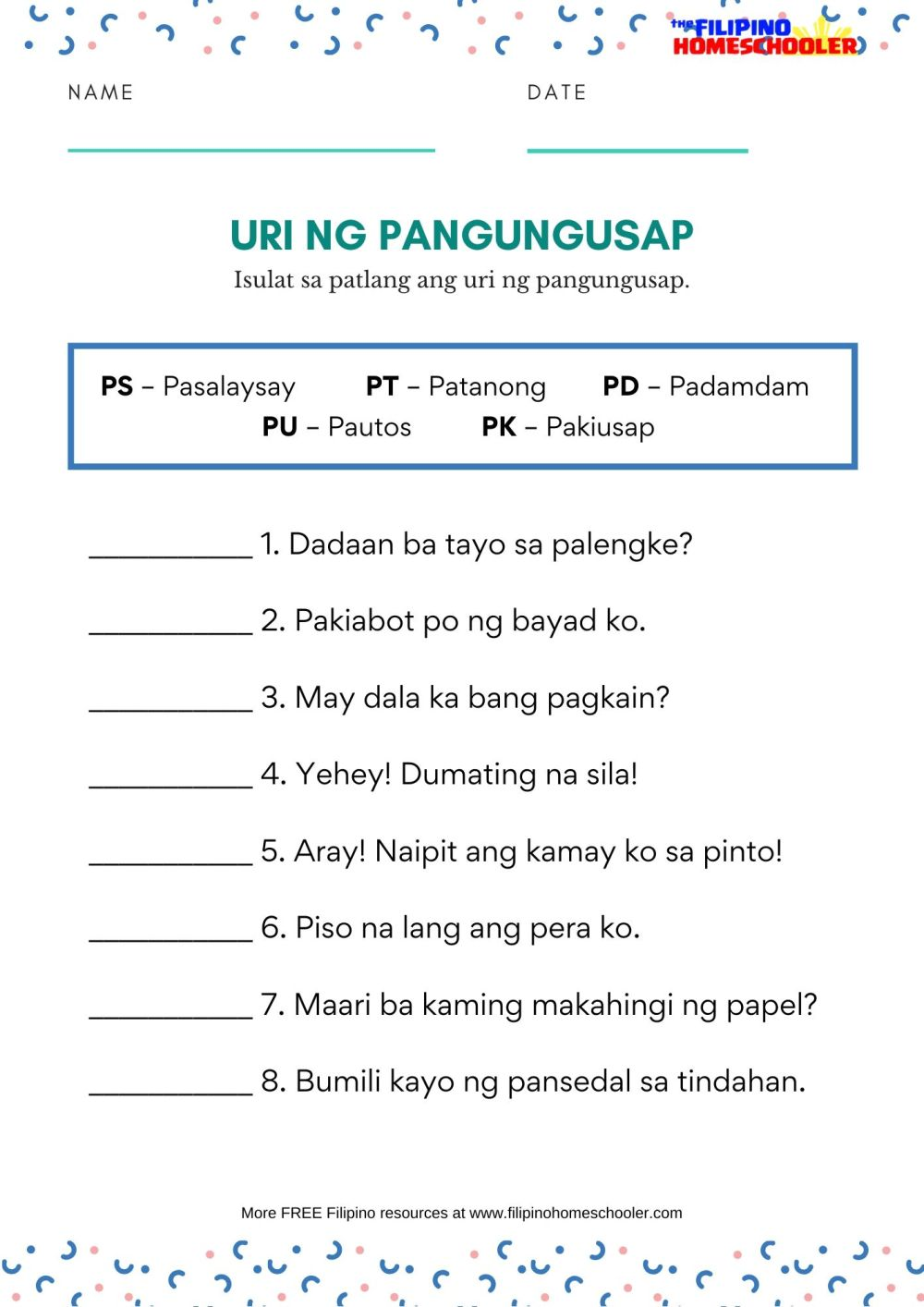 medium resolution of Uri Ng Tayutay Worksheet Grade 6   Printable Worksheets and Activities for  Teachers