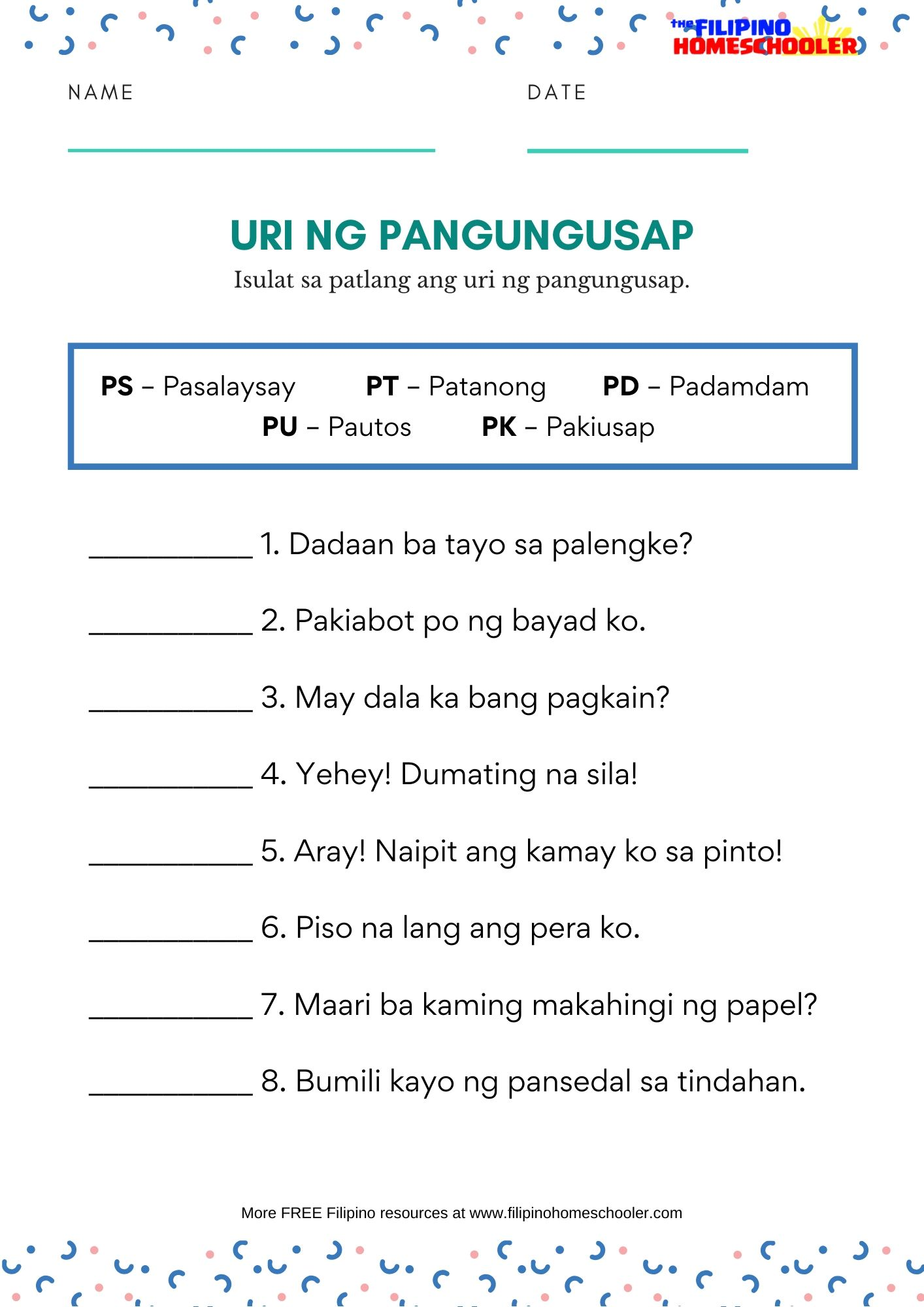 hight resolution of Uri Ng Tayutay Worksheet Grade 6   Printable Worksheets and Activities for  Teachers