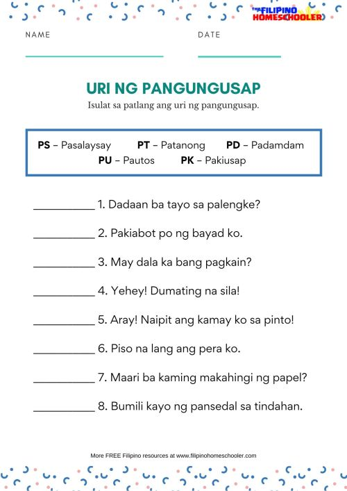 small resolution of Uri Ng Tayutay Worksheet Grade 6   Printable Worksheets and Activities for  Teachers