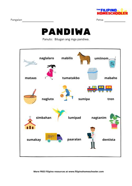 small resolution of Pandiwa at Mga Halimbawa — The Filipino Homeschooler