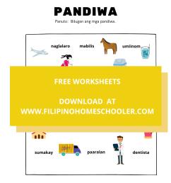 Panagano Ng Pandiwa Worksheets   Printable Worksheets and Activities for  Teachers [ 2000 x 1414 Pixel ]