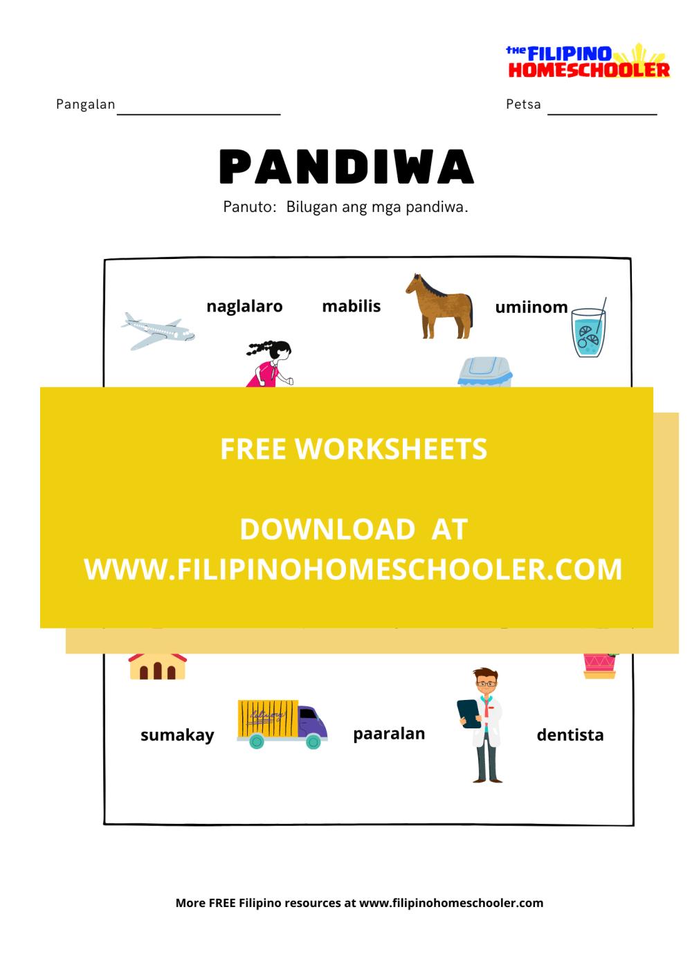 medium resolution of Panagano Ng Pandiwa Worksheets   Printable Worksheets and Activities for  Teachers