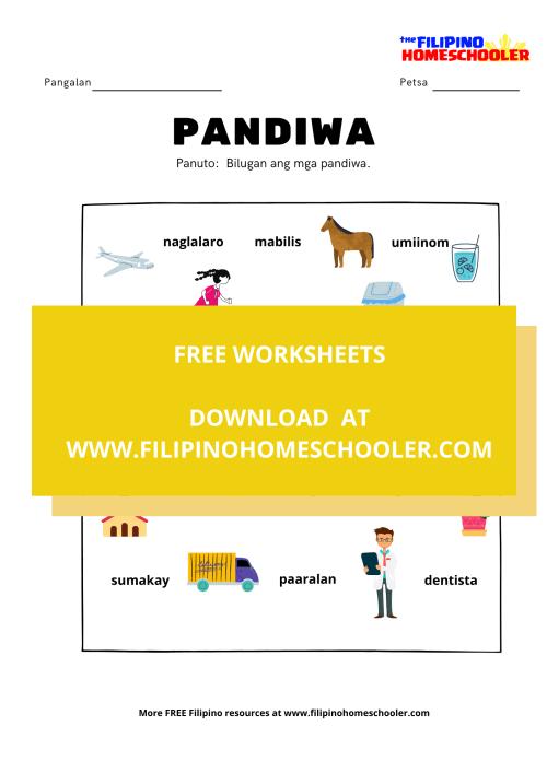 small resolution of Panagano Ng Pandiwa Worksheets   Printable Worksheets and Activities for  Teachers