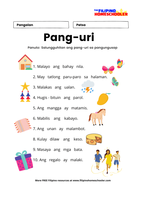 small resolution of Worksheet For Grade 4 Pang Uri   Printable Worksheets and Activities for  Teachers