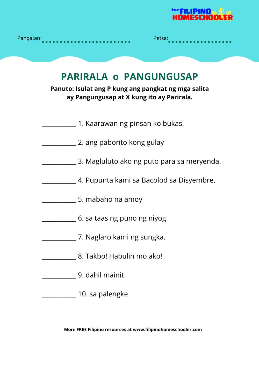 medium resolution of Uri Ng Panghalip Worksheet   Printable Worksheets and Activities for  Teachers