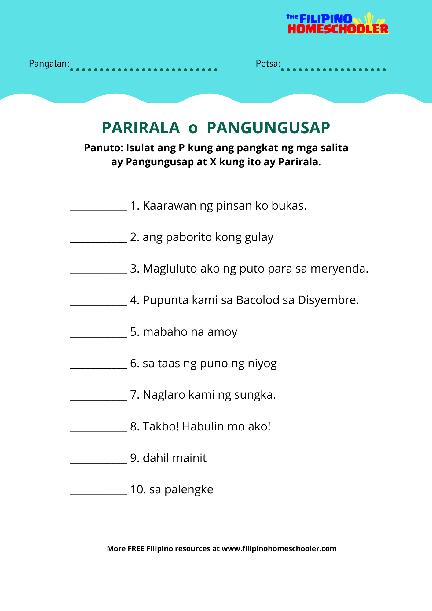 hight resolution of Uri Ng Panghalip Worksheet   Printable Worksheets and Activities for  Teachers