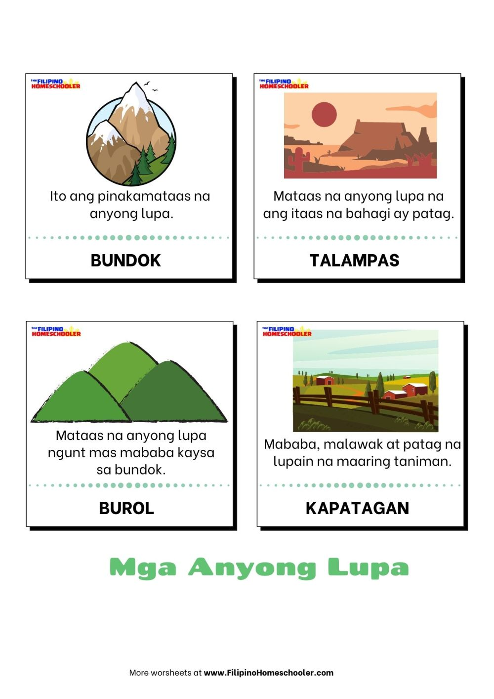 medium resolution of Mga Anyong Lupa Worksheets   Printable Worksheets and Activities for  Teachers