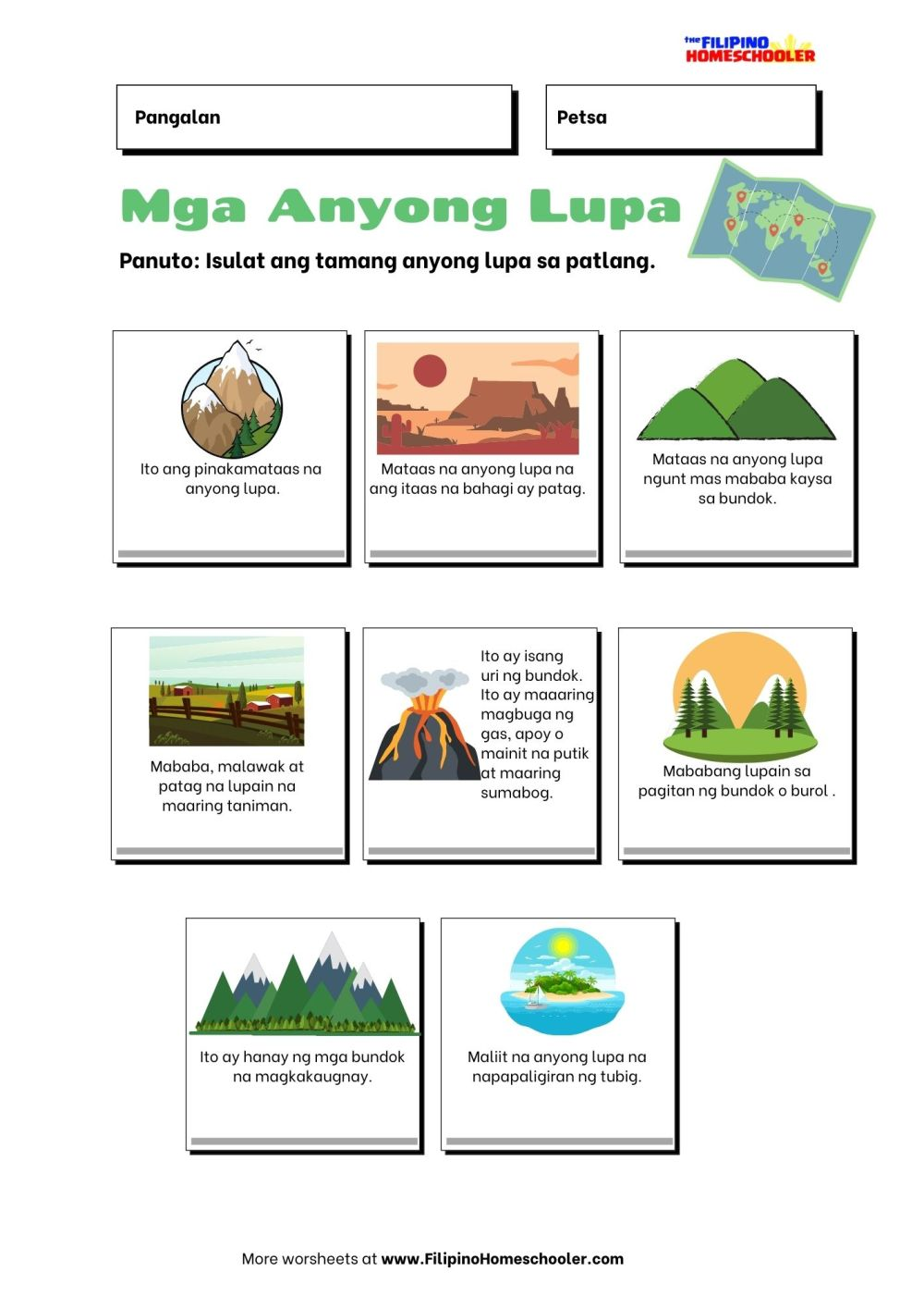 medium resolution of Anyong Tubig Worksheet   Printable Worksheets and Activities for Teachers
